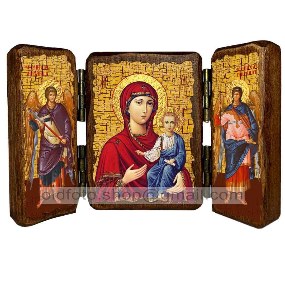 Одигітрія (Смоленська) Ікона Пресвятої Богородиці ,ікона на дереві 260х170 мм