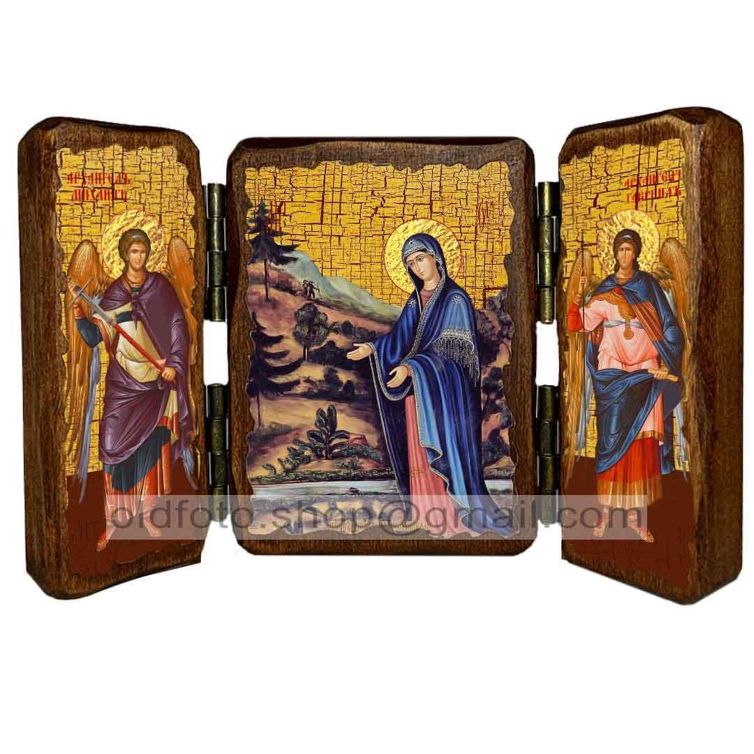 Пюхтицкая ікона Божої Матері ,ікона на дереві 260х170 мм