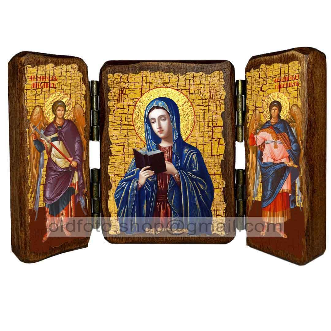 Калужская икона Божией Матери ,икона на дереве 260х170 мм