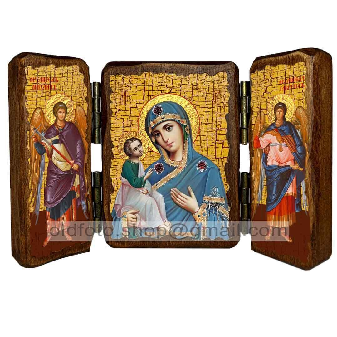 Иерусалимская Икона Пресвятой Богородицы ,икона на дереве 260х170 мм