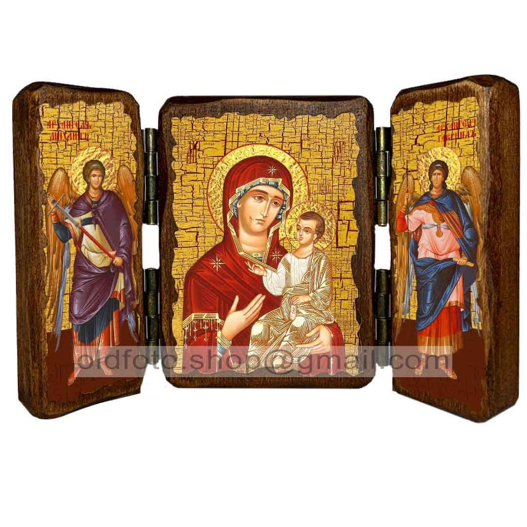 Иверская Икона Пресвятой Богородицы ,икона на дереве 260х170 мм