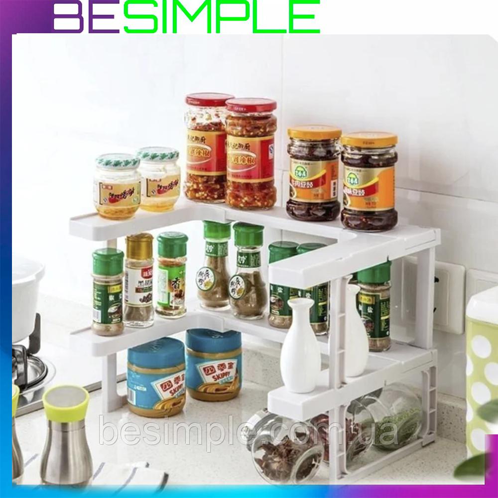 Полка-органайзер для спецій Spicy Shelf / Багатофункціональний органайзер-полиця для спецій і банок