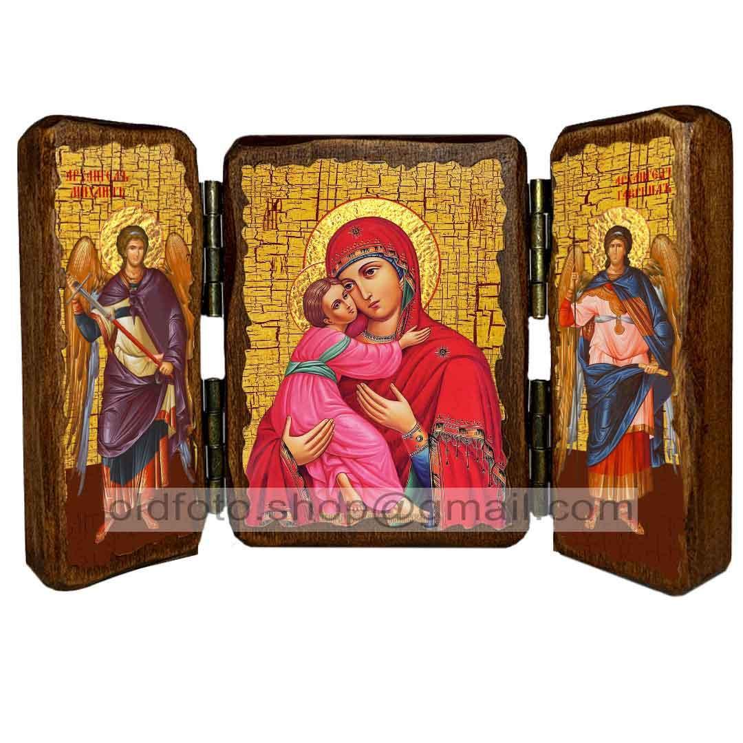 Володимирська Ікона Пресвятої Богородиці ,ікона на дереві 260х170 мм