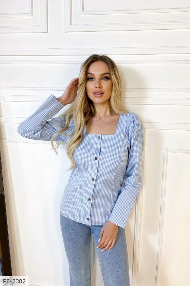 Жіноча сорочка в клітку
