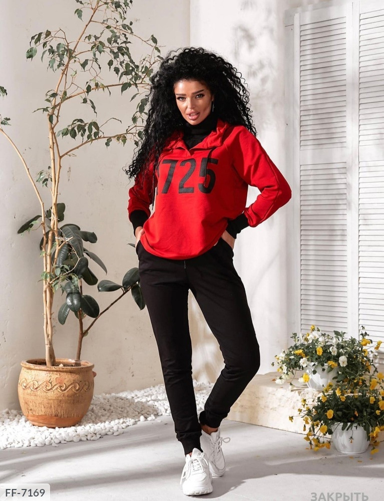 "Жіночий спортивний костюм ""1725"" (Батал)"