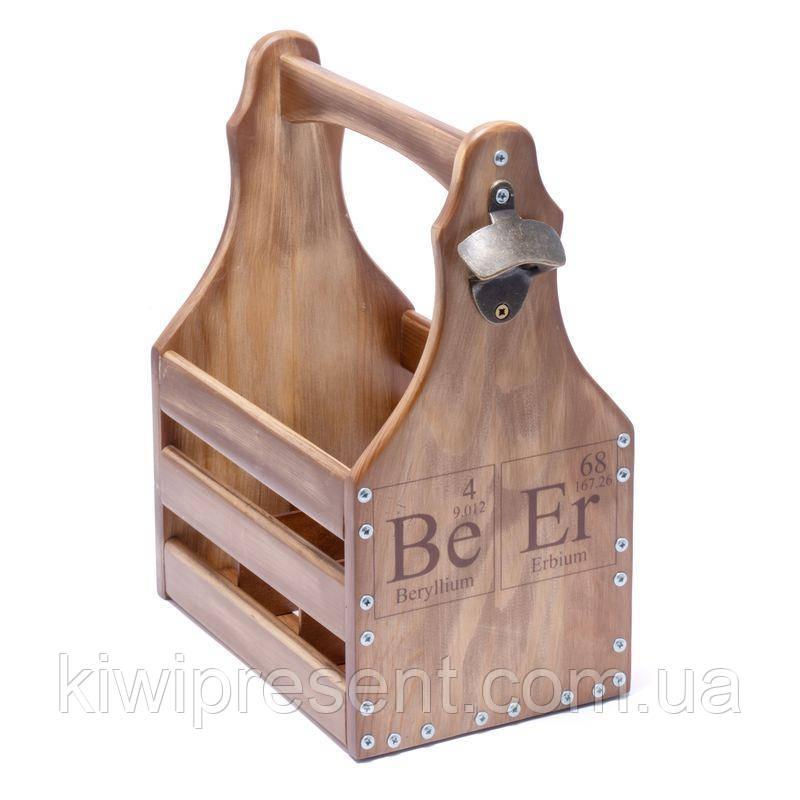 Ящик для 6 бутылок пива 0,5л. BST 040523 26х18х33 см. коричневый