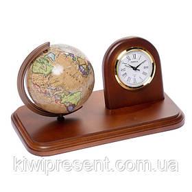 Підставка настільна з годинником і глобусом 110 мм (рос.) BST 540075