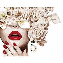 Картина по Номерам Леди блеск, цветы 40х50см Strateg