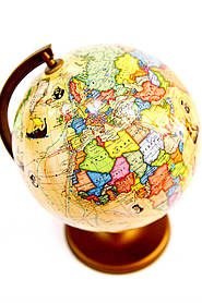 Глобус настільний 220 мм маршрутами землепрохідцями в картонній коробці рос BST 540083