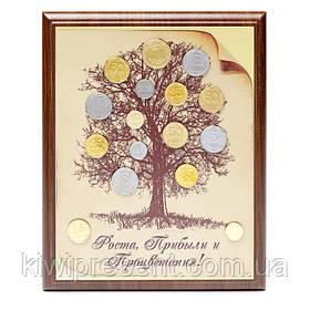 Картина денежное дерево с монетами 22х30