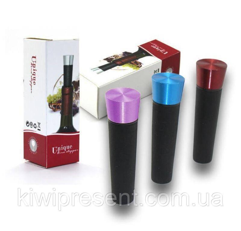 Вакуумная пробка для вина BST 720013 серебристая