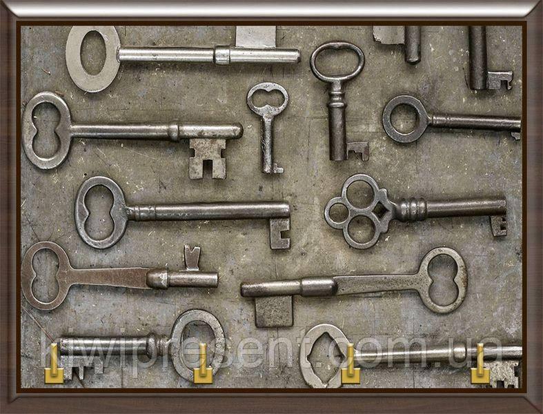 Ключниця BST 020019 25x20 см коричнева