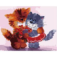 Картина по Номерам Дружные котики 40х50см Strateg