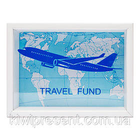 Копилка для купюр Самолет  BST 710029 20х15 см. белая