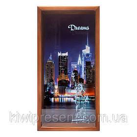Копилка для бумажных купюр Нью Йорк BST 710031 30х15 см. коричневая
