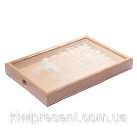Копилка для пробок винных BST 250008 50х35х5,5 см. ясень с краном