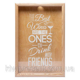 Копилка для винных пробок 250011 50х35х5,5 см. The best wines орех