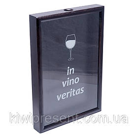Копилка для винных пробок 250014 48х33х5,5 см. черная In vino veritas