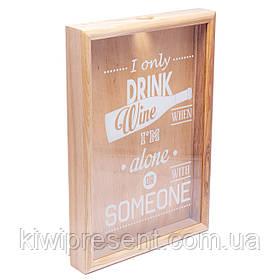 Копилка для винных пробок 250016 48х35х5,5 см. ясень I only drink wine