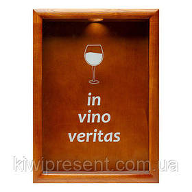 Копилка для винных пробок BST PRK-51 38х28 см. In vino veritas орех