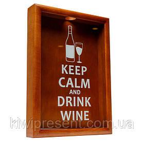 Копилка для винных пробок BST PRK-53 38х28 см. Keep calm and drink wine