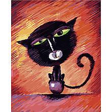 Картина по Номерам Кот на шарике 40х50см Strateg