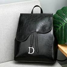 Молодіжний міський жіночий рюкзак сумка Aliri-00160 чорний