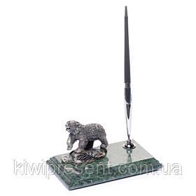 Подставка для ручки BST 540011 16х10 мраморная Медведь