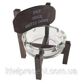 Пепельница стульчик 040443 темная на английском
