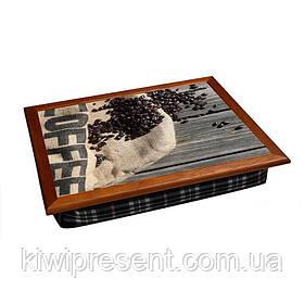 Піднос на подушці кольоровий BST 710057 44*36 Coffe
