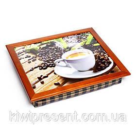 Піднос подушка BST 710078 44*36 коричневий кави, дошки, листя