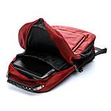 Рюкзак міський BST 430022 32х15х48т див. червоний, фото 3