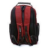 Рюкзак міський BST 430022 32х15х48т див. червоний, фото 5