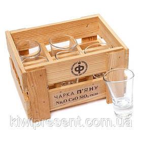 Набор 6 пьяных рюмок высоких оригинальных BST 520004 20х15х11 см. Текила Бум