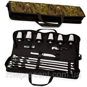Набор для шашлыка, пикника подарочный BST 100009 50х13х8 см для шести шашлыков