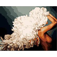 Картина по Номерам Девушка и белые пионы Эми Джад 40х50см Strateg
