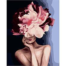 Картина по Номерам Девушка розовый пион Эми Джад 40х50см Strateg