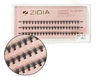 Вії накладні пучкові Zidia Cluster Lashes 20D C 0.10 (3 лєнти, розмір 6 мм)