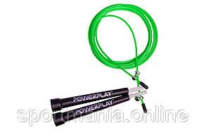 Скакалка швидкісна PowerPlay 4202 Зелена