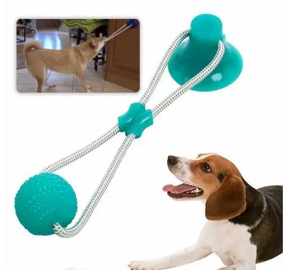 Іграшка для собак канат на присосці з м'ячем