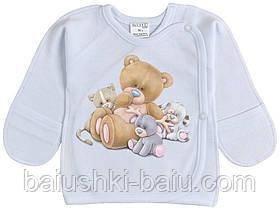 Сорочечка для хлопчика трикотажний у пологовий будинок, р. 56