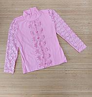Водолазка розовая для девочек 8-12 лет. Турция. Опт