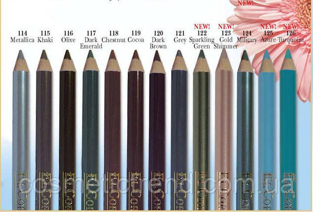 Карандаш для глаз водостойкий деревянный Murena №131 El Corazon Waterproof eyeliner pencil (распродажа), фото 2