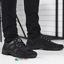 Чоловічі кросівки чорні з прошитою підошвою, фото 3