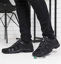 Чоловічі кросівки чорні з прошитою підошвою, фото 2