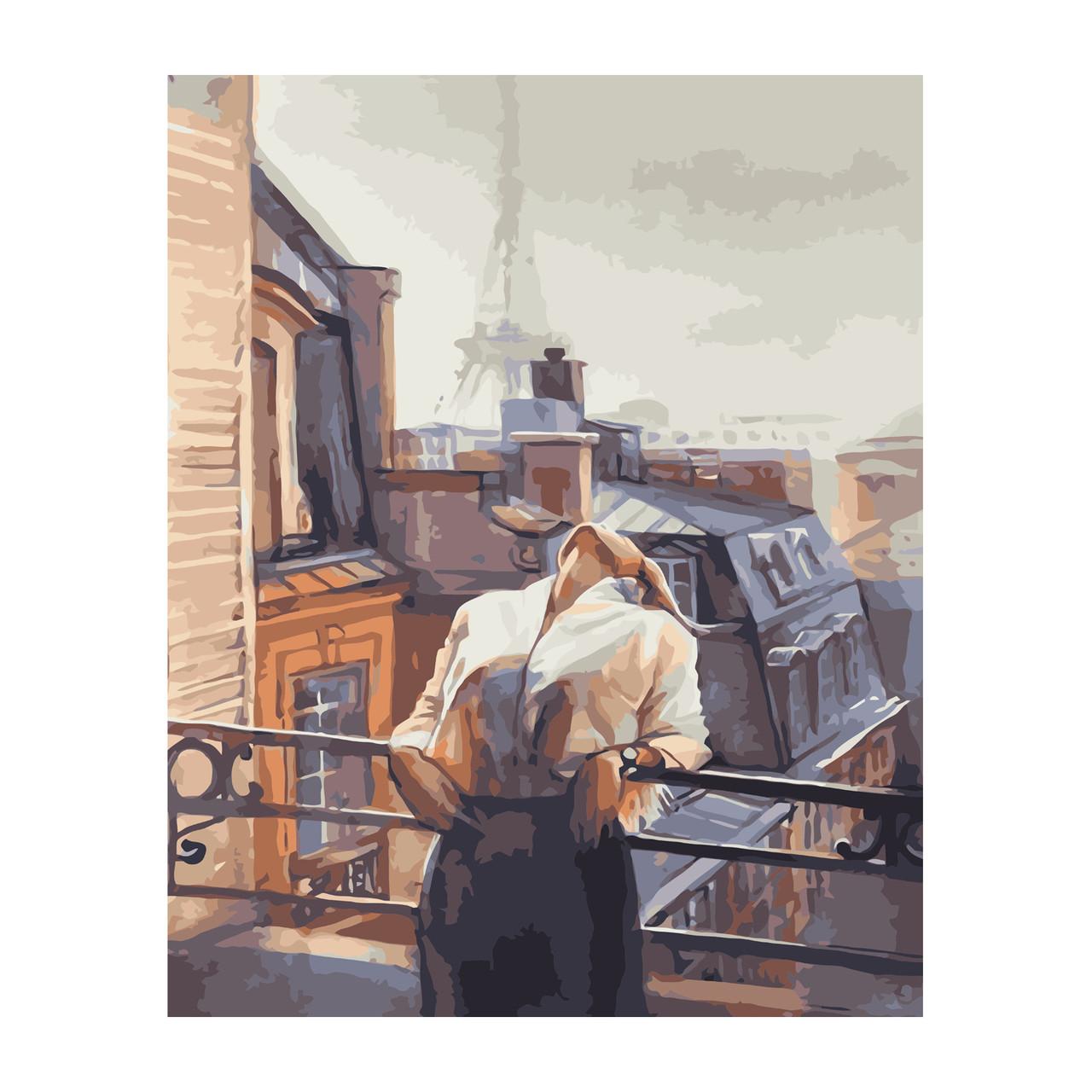 Картина по Номерам Девушка на балконе 40х50см Strateg