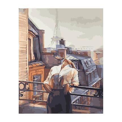 Картина по Номерам Девушка на балконе 40х50см Strateg, фото 2