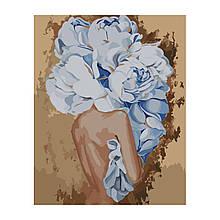 Картина по Номерам Девушки с голубыми пионами Эми Джад 40х50см Strateg