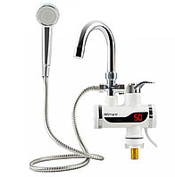 Кран Смеситель Проточный водонагреватель с душем Delimano электрический нижнее подключение для дачи Бойлер