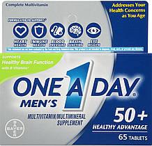 Мультивитамины для мужчин 50+, One-A-Day, Bayer, 65 таблеток